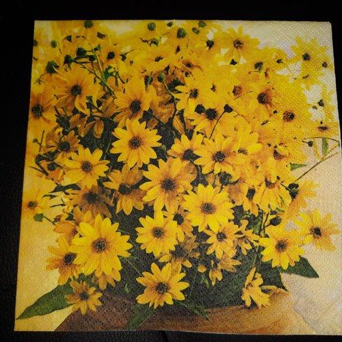 """Serviette en papier """"bouquet de fleurs"""""""