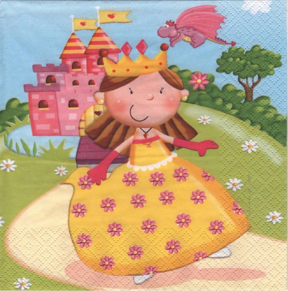 """Serviette en papier """"Mini princesse"""""""