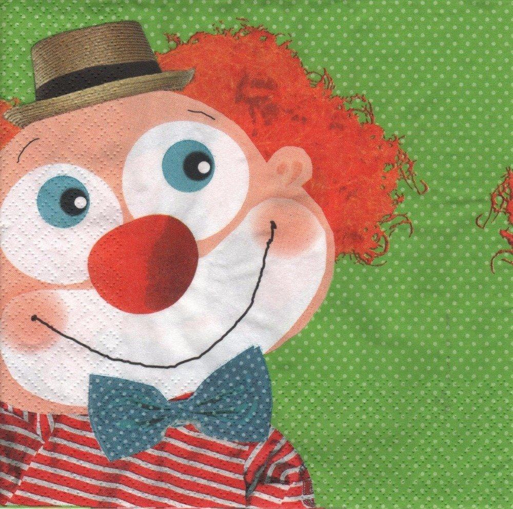 """Serviette en papier """"Clown"""""""
