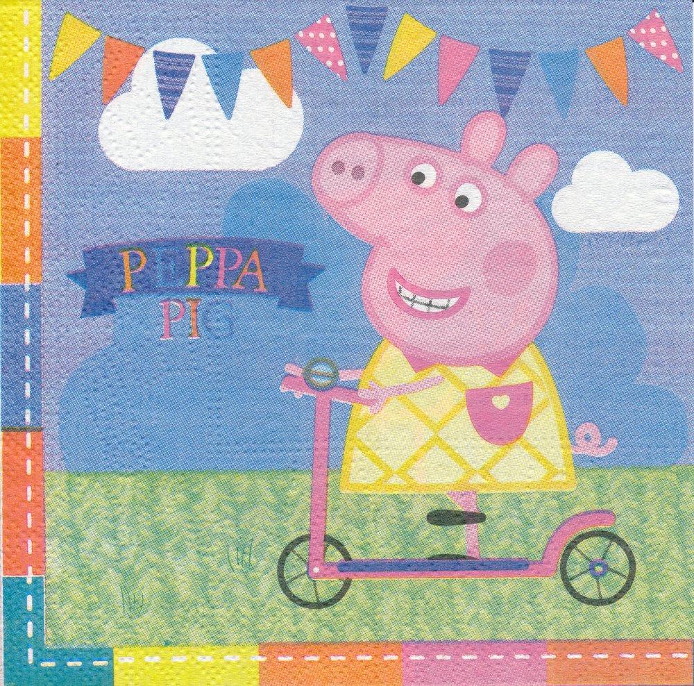 "Serviette en papier ""Pepppa Pig"""