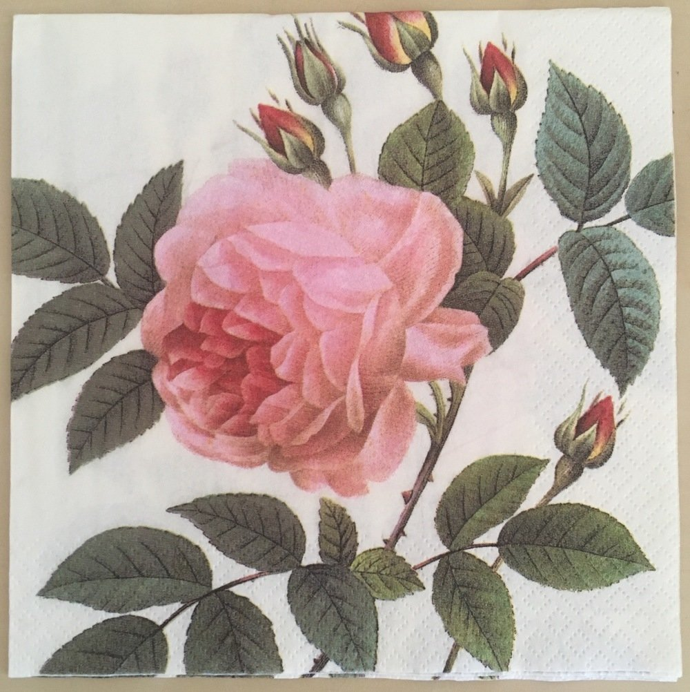 Serviette en papier « Rose rose thé »