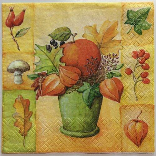 """Serviette en papier """"l'automne"""""""