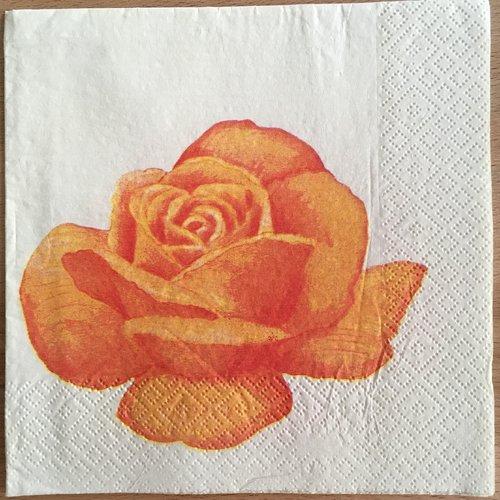 """Serviette en papier """"rose orange"""""""