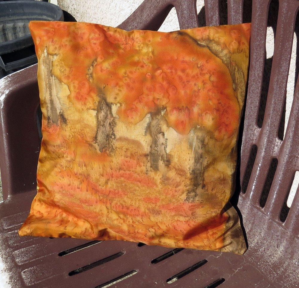 Housse de coussin orange psychédélique