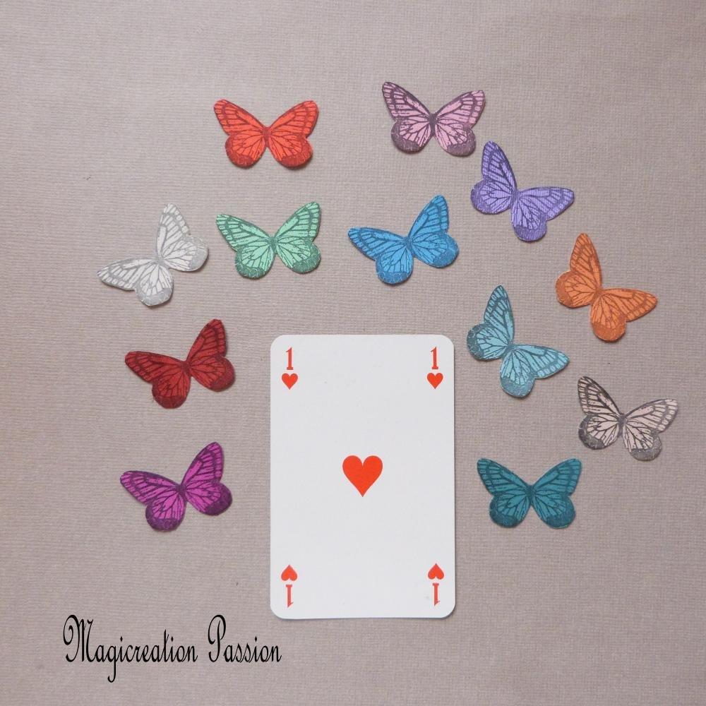 ailes papillons soie autocollante 3.5 cm violet, collection Mia