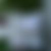 Housse de coussin carrée , en patchwork , tissu anglais , monogramme , dentelles , broderie anglaise ancienne , romantique , shabby ;