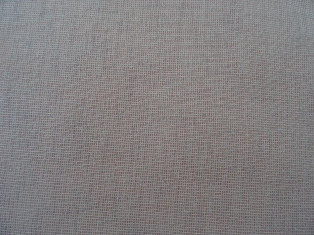 Rideau ,brise vue en lin polyester gris pâle avec dans le bas une dentelle fine grise dans le même ton ;