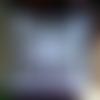 """Housse de coussin carrée  en lin gris et blanc , monogramme ancien """" f p """" , vintage , élégant ;"""