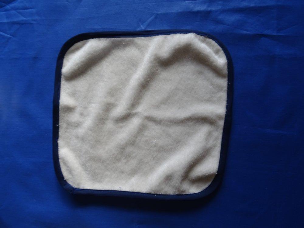 8 lingettes en bambou  blanc , serviette , panier de rangement , jute , étoiles bleu , écologique ;