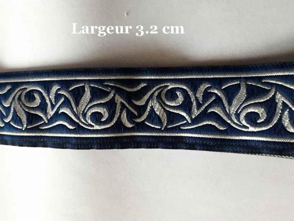 Galon Médiéval, Celtic feuilles marine et argent