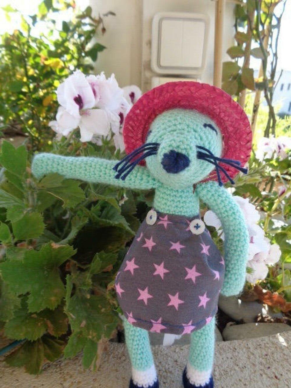 Doudou souris au crochet