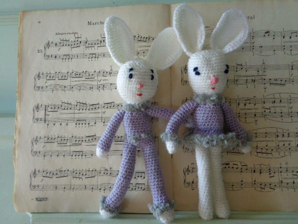 Couple de Lapins au crochet