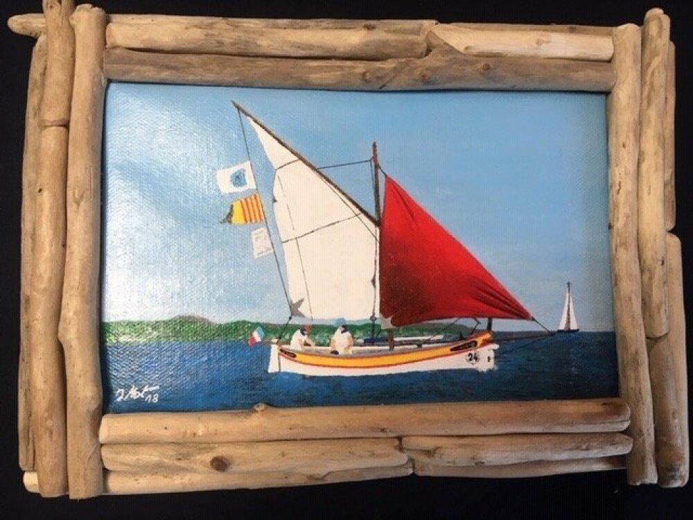 Peinture Acrylique sur toile - Pointu en fête
