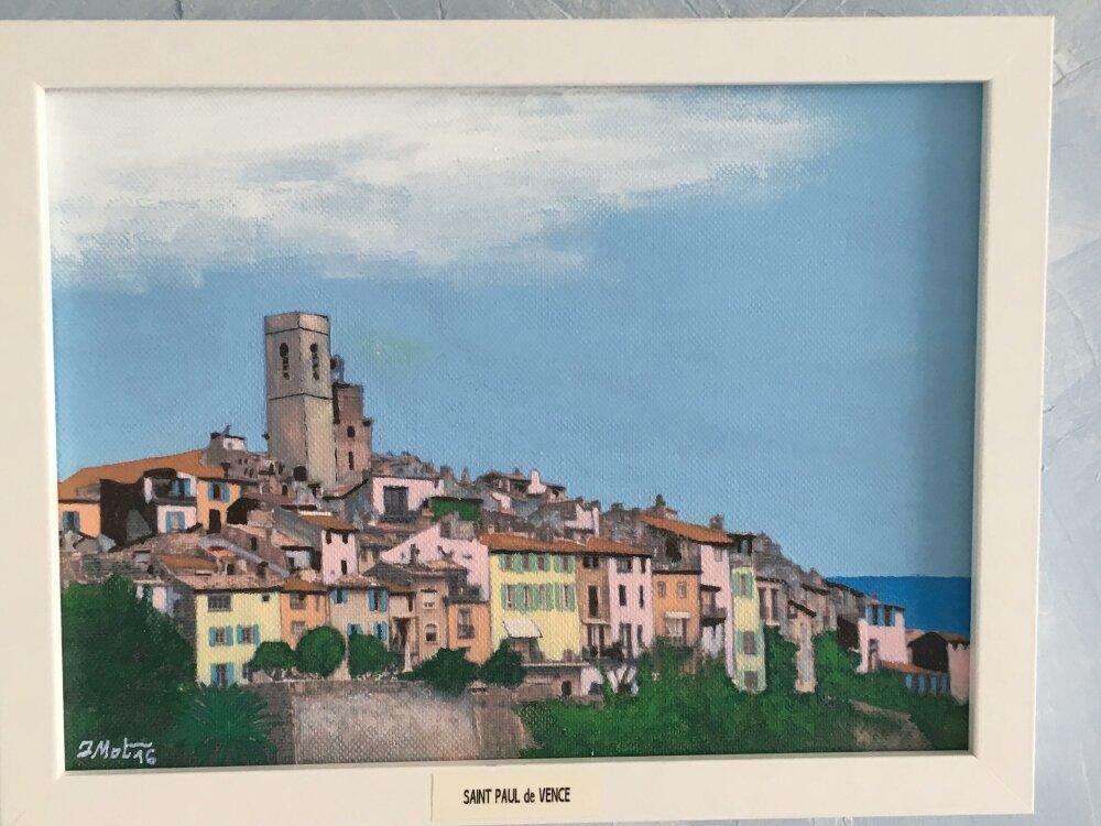 Peinture Acrylique Souvenir de Vacances (Saint Paul de Vence)