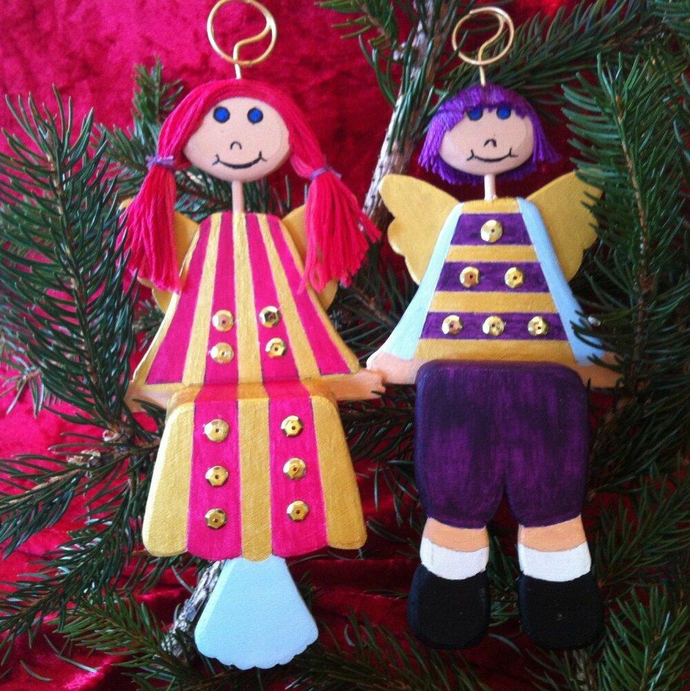 Decoration de Noël Anges à poser ou suspendre au sapin