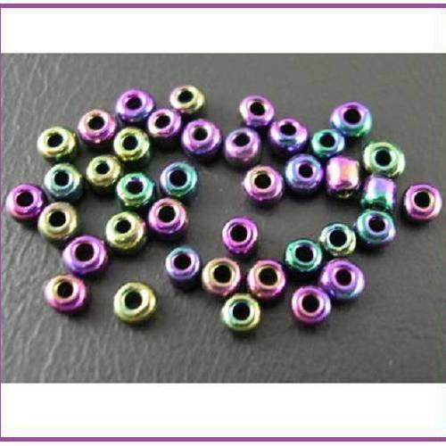 10 g Opaque-Givré Jet Black Toho perles de rocaille 8//0-49F