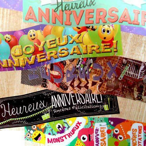 Carte Triple Joyeux Anniversaire Faire Part Enfant Adulte Colore Amusant Un Grand Marche