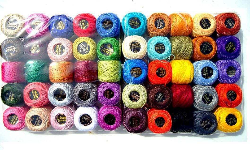 1 PELOTE de fil pour crochet , 85 m  BLEU * Couture, tricot * Bobine Anchor Coloré