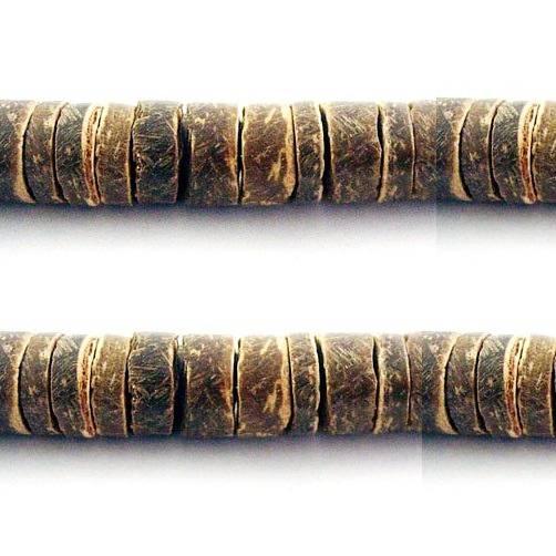 LOT 500 PERLES en NOIX DE COCO Marron rond / rondelle en Bois 8 mm - PERLE VEGETALE