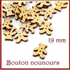 Dorime 100PCS Bois Ours Boutons de Couture pour v/êtements denfants Scrapbooking d/écoratifs NeedleworkAccessories