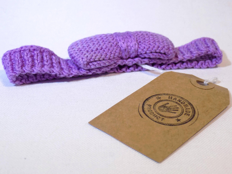 Headband -  bandeau bébé nœud papillon en coton plusieurs couleurs disponible  sur mesure bijoux de cheveux pour bébé tricoté main
