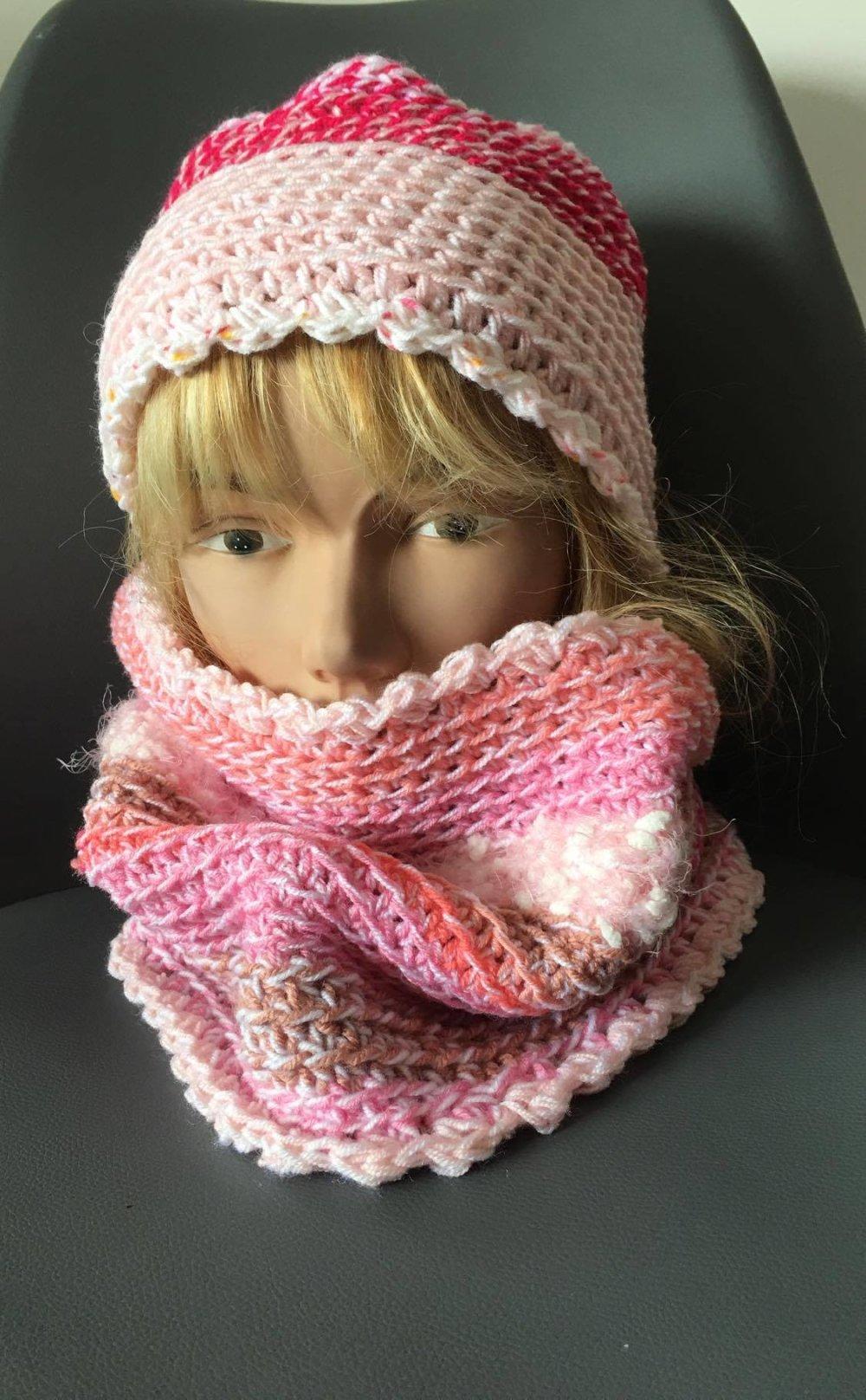 ensemble snood et son bonnet assorti  - fille 10/12 ans  [871]