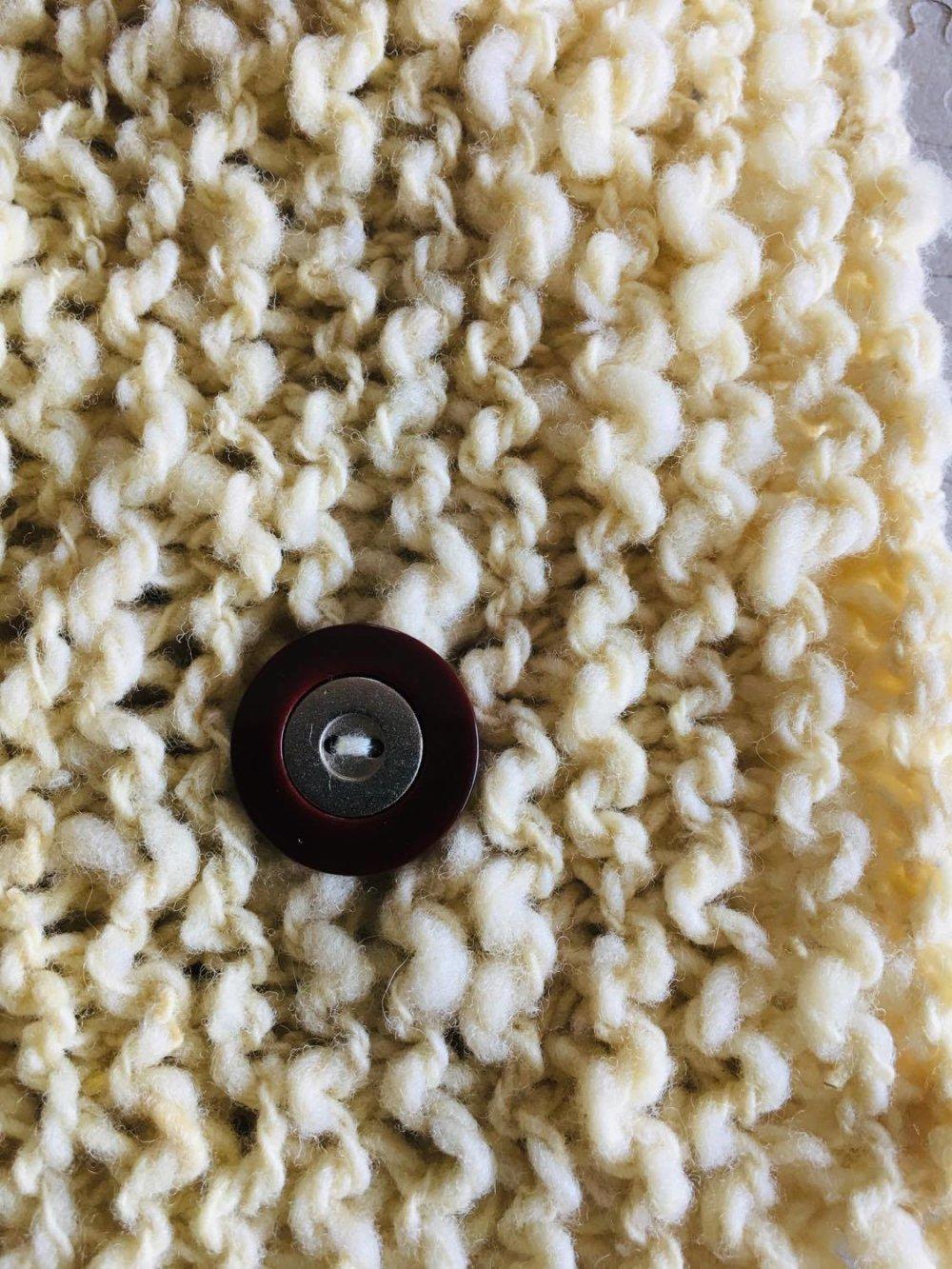 col ,cache cou ,snood  femme 100% pure laine [873] ,tricot main ,laine naturel , mouton ,française , mérinos , texel