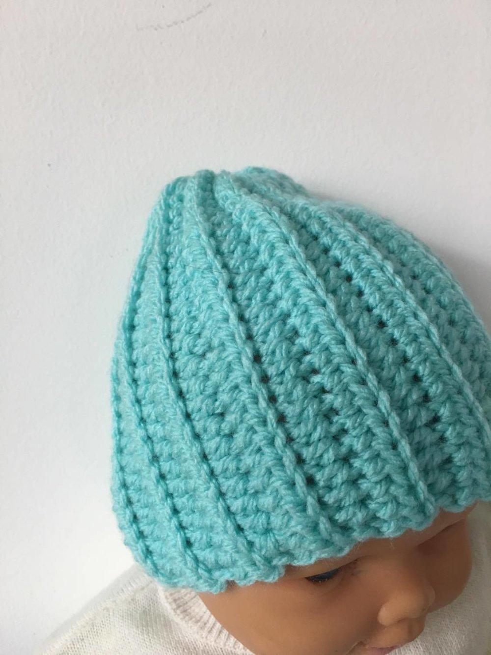 Bonnet naissance -prématuré  (réf 876)
