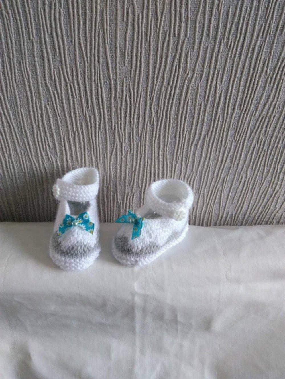 Chaussons bébé laine forme babies taille 0/3 mois