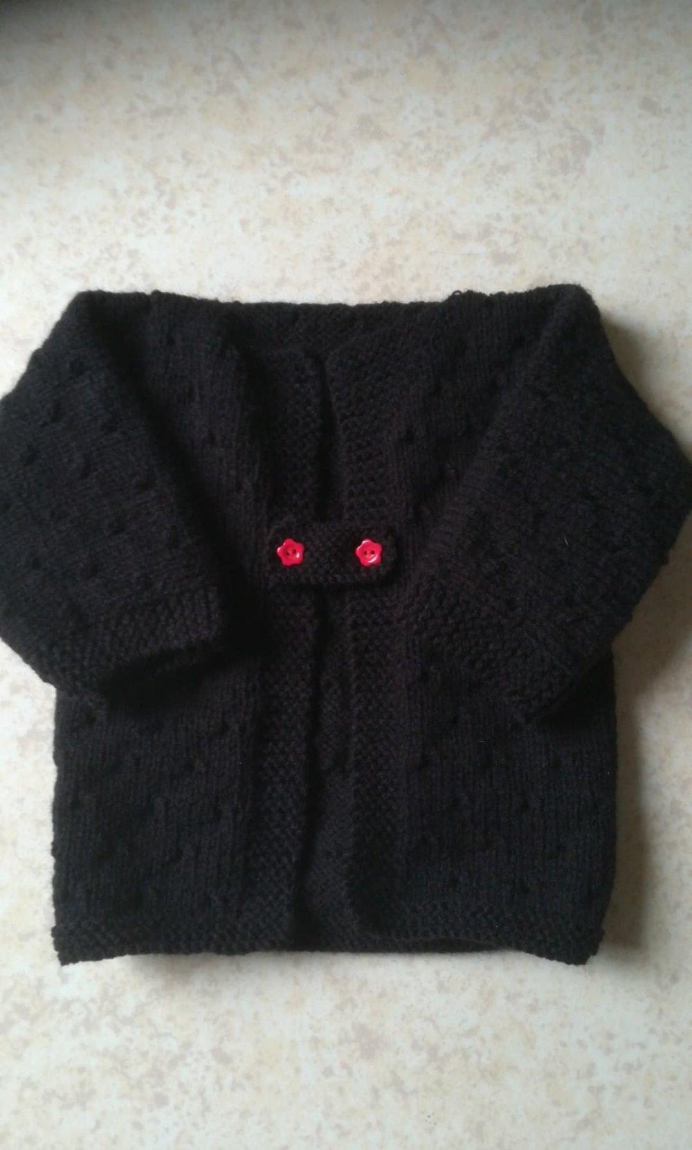 Brassière gilet bébé/reborn noir taille 3/6 mois