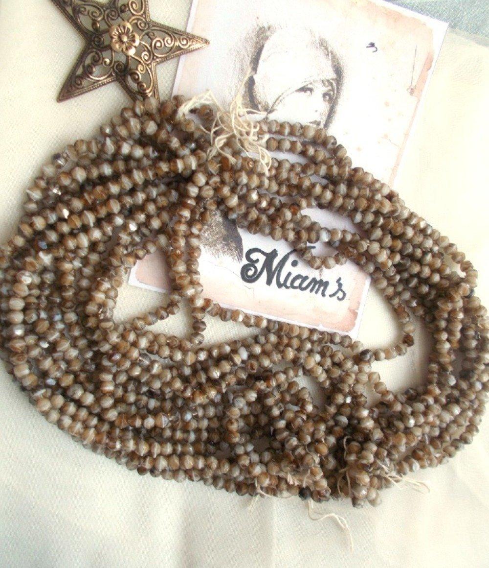 perles de bohème à facettes