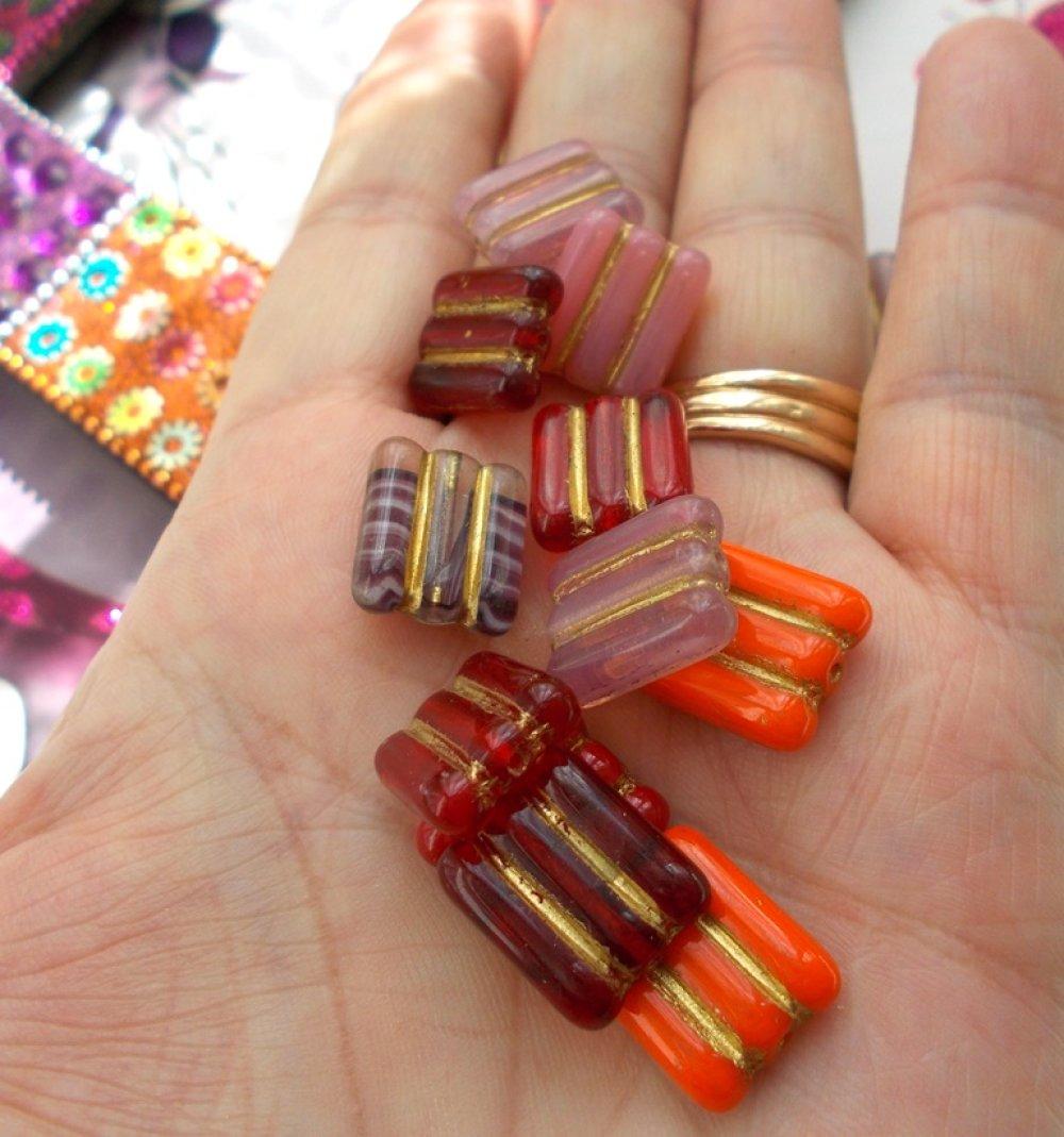 perles en verre tchèque de bohème