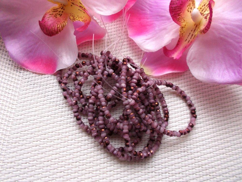 perles d'entretoises en verre tchèque de bohème