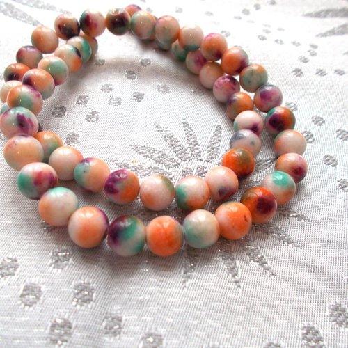 Perles de jade multicolores