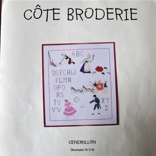 Kit Broderie Point De Croix Compte Abecedaire Cendrillon Un Grand Marche