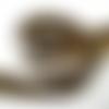 Ruban biais motif léopard beige/marron largeur plié 20mm déplié 40mm - réf b10