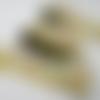 Galon 4cm pour étagères, cheminée, motif les légumes sur fond jaune moutarde