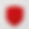 Écusson application thermocollant blason rouge brodé d'une étoile