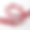 Ruban rococo fleurs fuchsia, ruban rouge