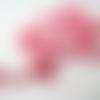 Galon ruban satin rose avec tous les 4cm petits chiens rose en suédine