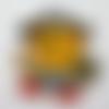 Application écusson thermocollant motif enfantin chat pirate