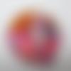Application écusson thermocollant motif chat fun rose