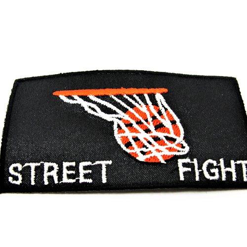 Application écusson thermocollant sport basket fond noir