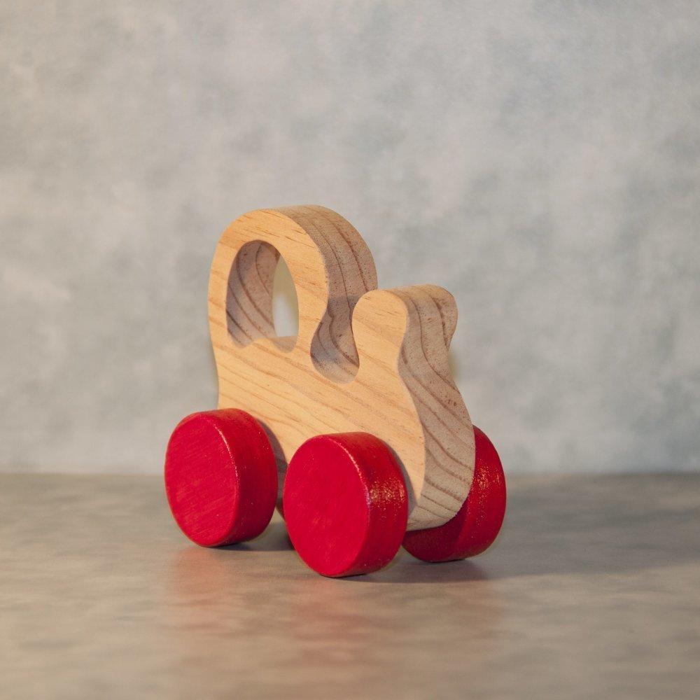 """Jouet en bois """" Locomotive à roulettes """""""
