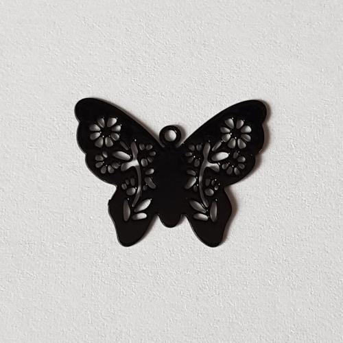 Estampe papillon noir 20x16mm