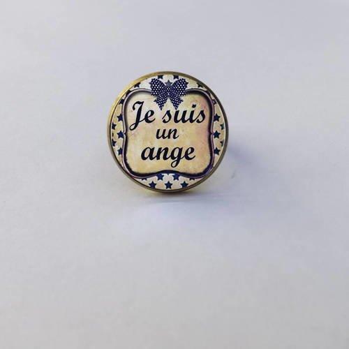 """Bague collection cabochon """" je suis un ange """""""