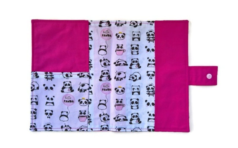 Protège carnet de santé rose panda