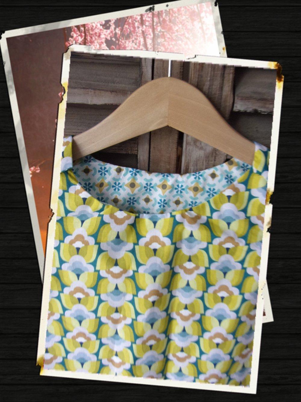 robe reversible en coton oeko tex taille 6 ans