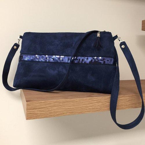 sac à main bleu marine bandoulière