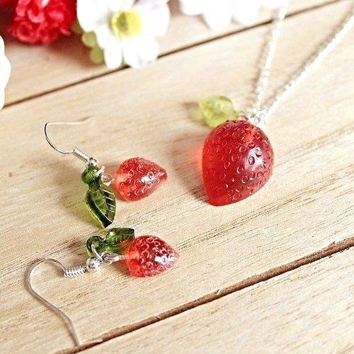 boucle d'oreille fruits